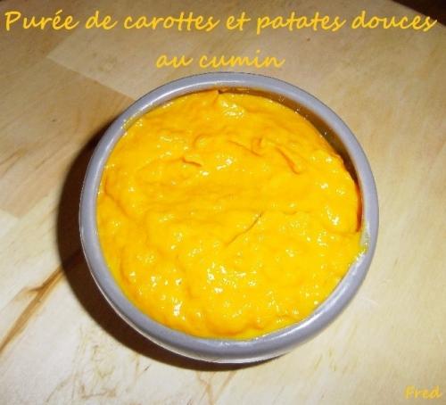 Pur e de carottes et de patates douces au cumin la cuisine des mamans - Recette patate douce blanche ...