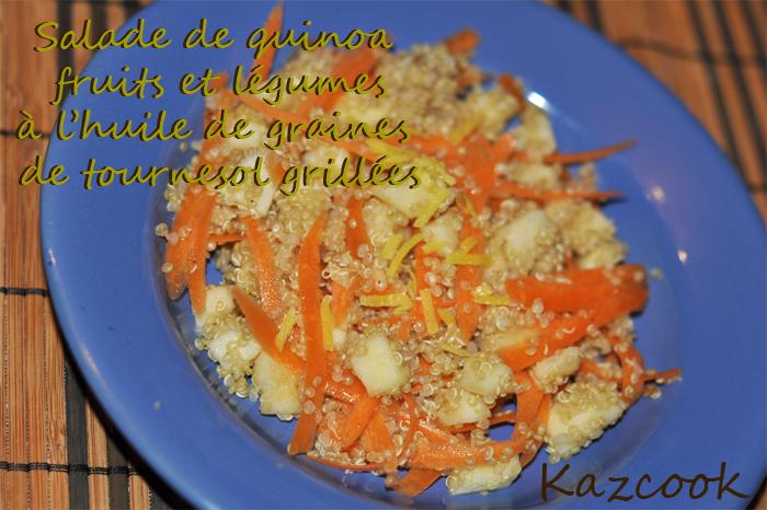 Salade de quinoa fruits et l gumes l 39 huile de graines - Graines de potimarron grillees a la poele ...