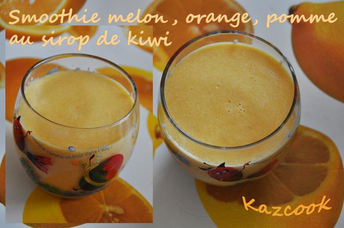 smoothie melon orange pomme au sirop de kiwi la cuisine des mamans. Black Bedroom Furniture Sets. Home Design Ideas