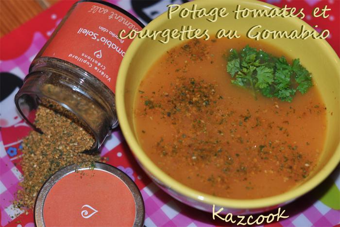 Potage tomates et courgettes au gomabio la cuisine des mamans - Potage a la tomate maison ...
